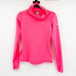 Nike Pro Dri-Fit Hot Pink Pullover Turtleneck